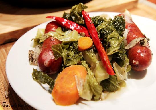 saussage-cabbage