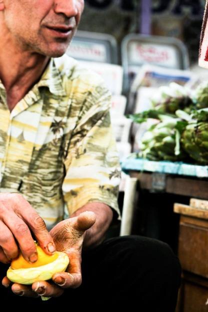 artichoke vendor