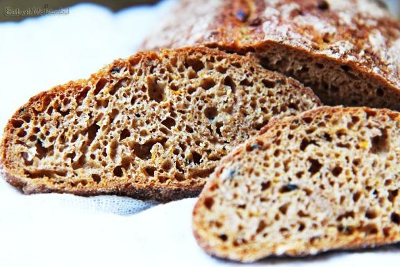 pumpkin rye bread-4