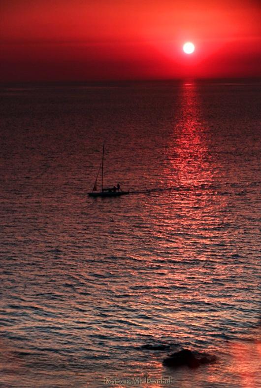 babakale sunset
