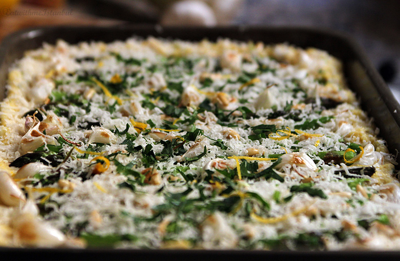 asparagus-polenta-making