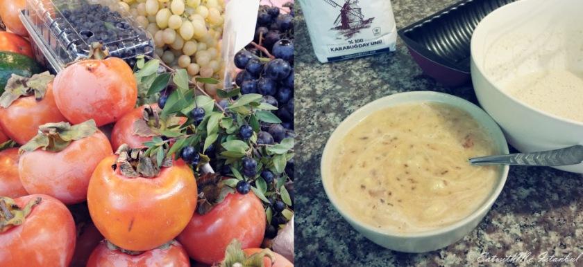persimmon-buckwheat-bread-making