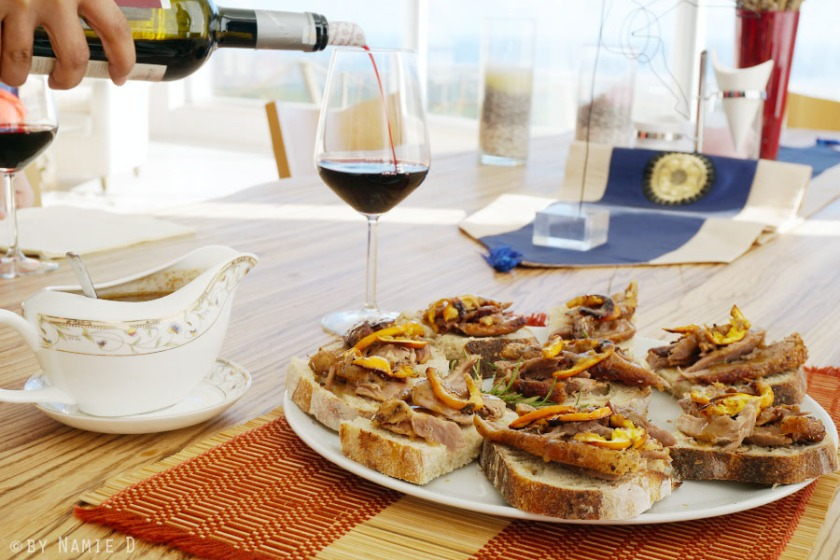 duck and wine