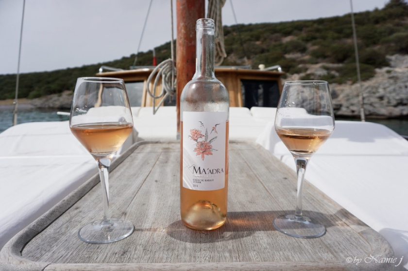 Ma'adra Turkish wine Rose
