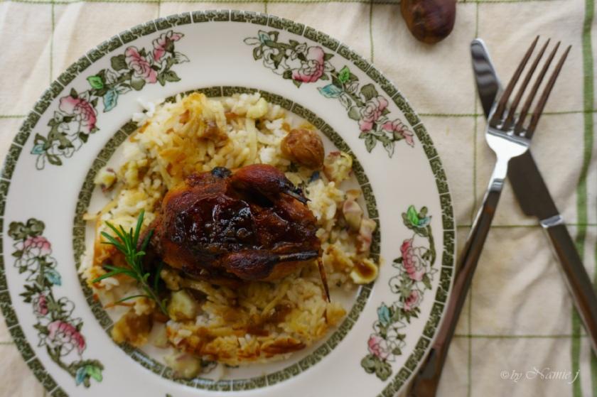 roast quail, Christmas, New Year